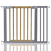 Safetots Beechwood and Metal Pressure Fit Gate 90.2 - 97.6cm