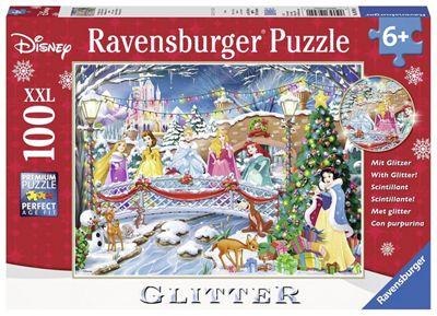 Disney Princess 'Glitter Christmas' XXL 100 Piece Jigsaw Puzzle Game