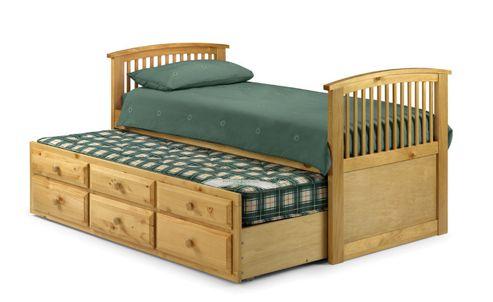 Julian Bowen Hornblower Captain's Bed Frame - Antique