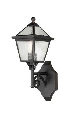 Elstead Lighting Louisiana 1 Light Outdoor Wall Lantern in Old bronze