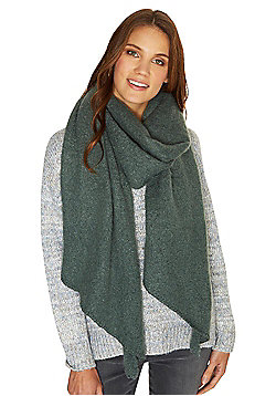Pieces Textured Oversized Scarf - Green