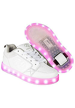 Heelys Premium 1 Lo Triple White Kids Heely Shoe - White