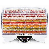 electriQ Digital Food Dehydrator with Adjustable Temperature and Timer Control