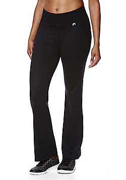 F&F Active Quick Dry Bootleg Trousers - Black