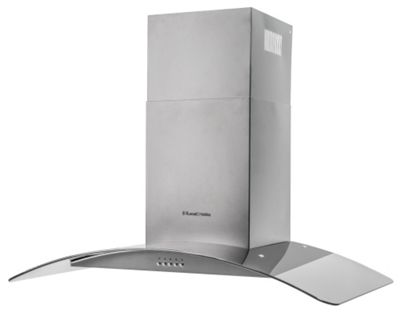 Russell Hobbs RHGCH901SS, Chimney Cooker Hood, 90cm Wide Glass & Stainless Steel