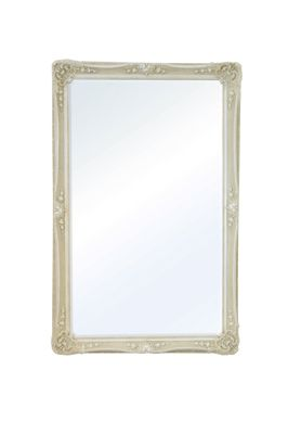 Large Ivory Antique Shabby Chic Ornate Wall Mirror 5Ft8 X 3Ft8, 173Cm X 112Cm