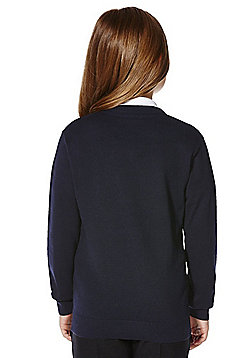 F&F School Unisex V-Neck Jumper with As New Technology - Navy