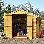 BillyOh Keeper Overlap Apex Wooden Garden Shed - 8 x 8 Windowed