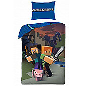 Minecraft Single Duvet Cover Set Cotton - European Size
