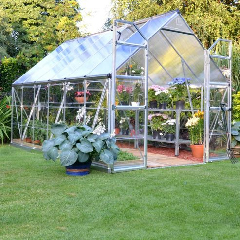 Palram Balance 8X12 - Silver Greenhouse - Polycarbonate and Aluminium Frame