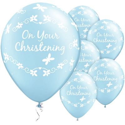 On Your Christening Butterflies 11 inch Latex Balloons - 25 Pack