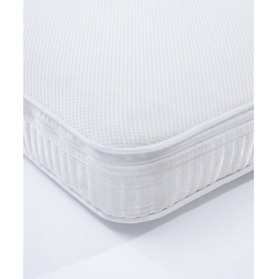 mothercare 60 x 120cm cot luxury pocket sprung mattress with spacetec and coolmax freshfx