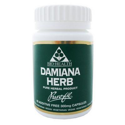 Bio Health Damiana Herb 60 Capsules 300mg