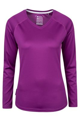 Mountain Warehouse Endurance Womens V-Neck Top ( Size: 12 )
