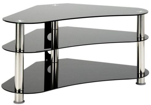 Universal LCD/Plasma 40 inch UM7 Curved Black Glass TV Stand