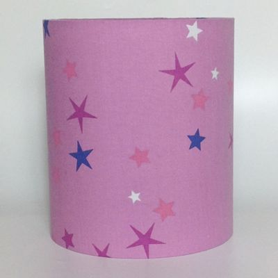 Pink Stars Medium Fabric Light Shade