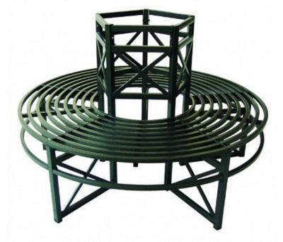 Circular Metal Tree Bench