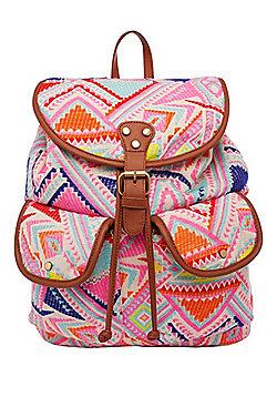 F&F Aztec Pattern Woven Rucksack