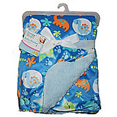 First Steps Dinosaurs Supersoft Mink/Sherpa Reversible Baby Blanket