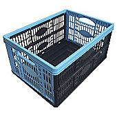 Blue 32L Folding Storage Crate