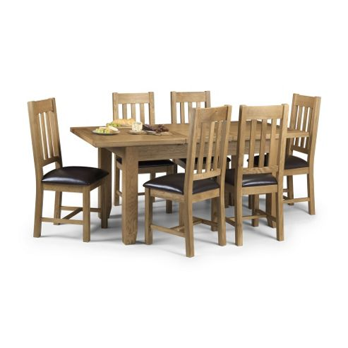 Solid Oak Extending Dining Set - Table + 6 Chairs