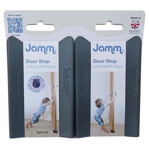 Jamm Door Stop, Twin Pack, Grey
