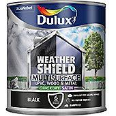 Dulux Weathershield Multi Surface Paint - Black - 2.5L