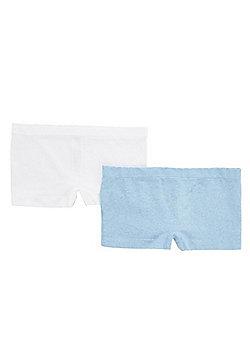 F&F 2 Pack of Seamfree Shorts - Blue & White