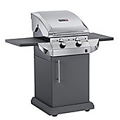 Char-broil Stainless Steel Classic 2 Burner Gas BBQ With Side Burner - Silver