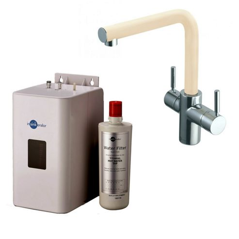 Insinkerator 3N1 Instant Hot Tap | 3in1 Mains Hot & Cold with Instant Hot Tap in Stone Complete with NEO Tank & Filter
