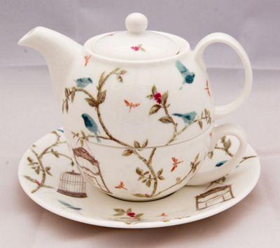 Buy Nina Campbell Tea For One Teapot Cup And Saucer Set