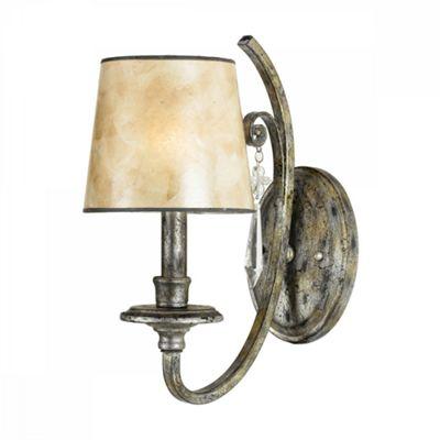 Mottled Silver 1lt Wall Light - 1 x 60W E14