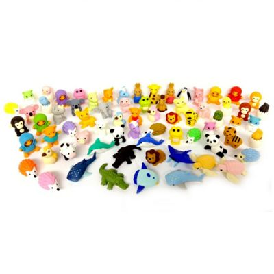 MEGA VALUE 100x Rare Assorted Official TY Beanie Puzzle Eraserz Iwako Japanese Collectable Eraser