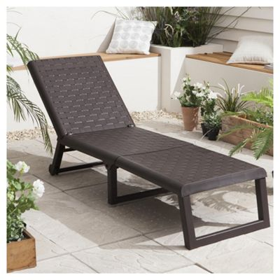 buy dream resin folding garden sun lounger wengue from. Black Bedroom Furniture Sets. Home Design Ideas
