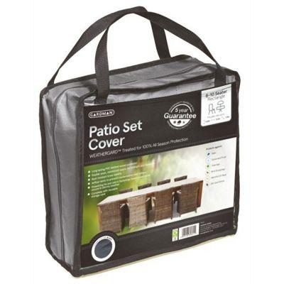 Gardman 8-10 Seater Rectangular Patio Set Cover- Grey