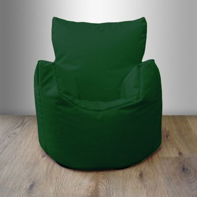 Children's 100% Cotton Twill Pre-Filled Bean Chair, Green