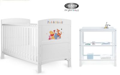 Obaby Winnie the Pooh and Friends 2 Piece Nursery Room Set - White