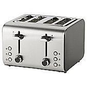 Tesco 4 Slice Toaster - Black & Stainless Steel