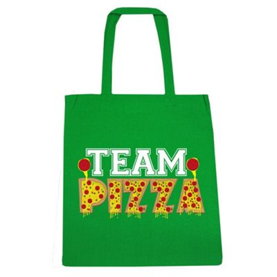 Team Pizza Tote Bag Green