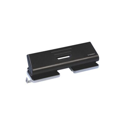 Q Connect 4-Hole Punch Black