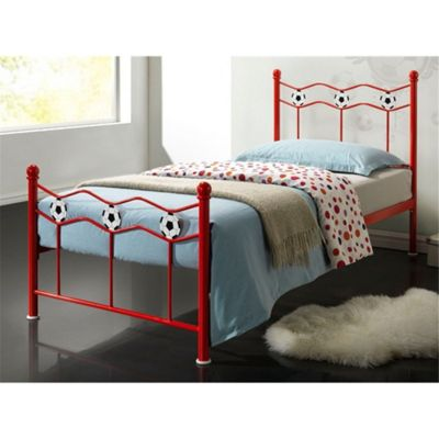 Red Football Metal Bed Frame