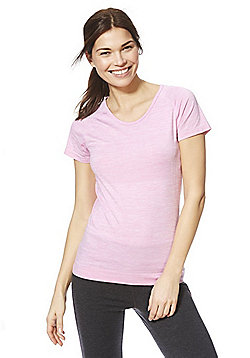 F&F Active Space Dye Seamfree T-Shirt - Pink