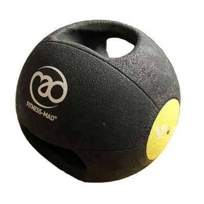 Fitness-MAD 4kg Double Grip Medicine Ball