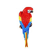 Tango the Wall Mountable 30cm Scarlet Macaw Parrot Garden Ornament
