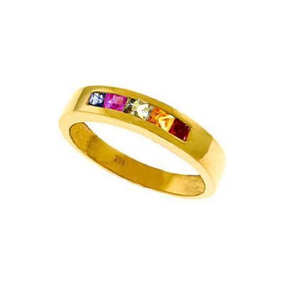 QP Jewellers 0.60ct Sapphire Princess Prestige Ring in 14K Gold - Size Y 1/2