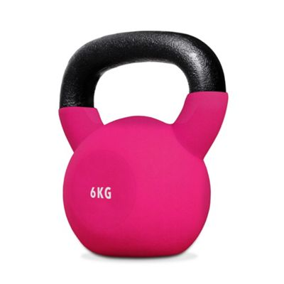 SnatchFlex Rubber Coated Cast Iron Kettlebell 6KG