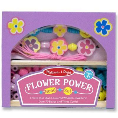 Flower Power Wooden Beads Set - Melissa & Doug