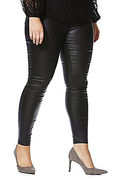 Simply Be Chloe Coated Skinny Jeans - Black