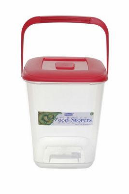 Whitefurze Square 10L Red Food Container