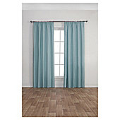 Blackout Pencil Pleat Curtains, Duck Egg (66 x 54'') - Duck egg